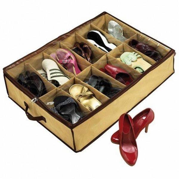 Organizator de pantofi Shoes Under - profita de spatiul nefolosit