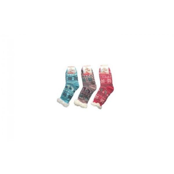 Set 2 perechi Ciorapi imblaniti - pentru copii - Model Winter Season