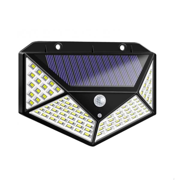 Lampa solara 100 LED 3 moduri de functionare, incarcare solara si senzor de miscare