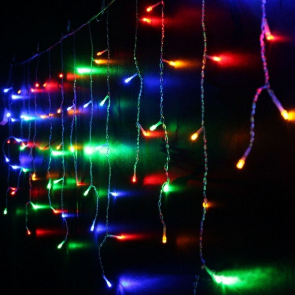 Instalatie Craciun 8 metri, franjuri cu LED-uri, MULTICOLOR, ALB , ALBASTRU, ALB CALD