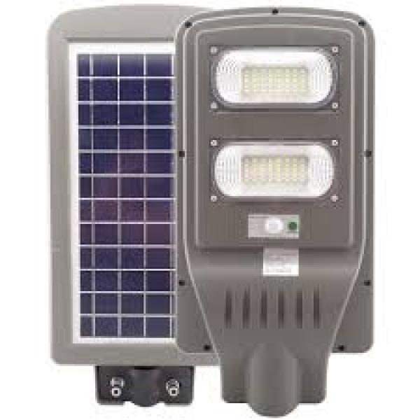 Lampa stradala 60w cu panou solar, acumulator, senzor de miscare