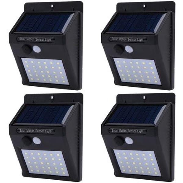4 x Lampa Solara de 30 de leduri cu senzor de miscare si de lumina