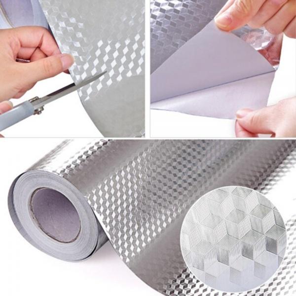Folie protectoare autoadeziva, din aluminiu 61 x 300 cm
