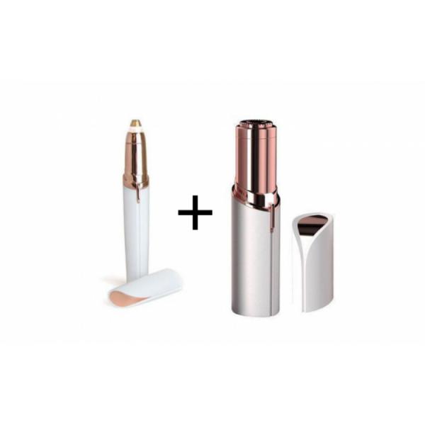 Set Epilator facial + Trimmer pentru sprancene- USB