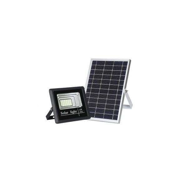 Proiector LED 10W cu panou solar si telecomanda