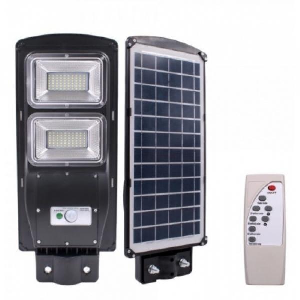 Lampa Stradala Proiector LED 60W cu panou solar si senzor de miscare