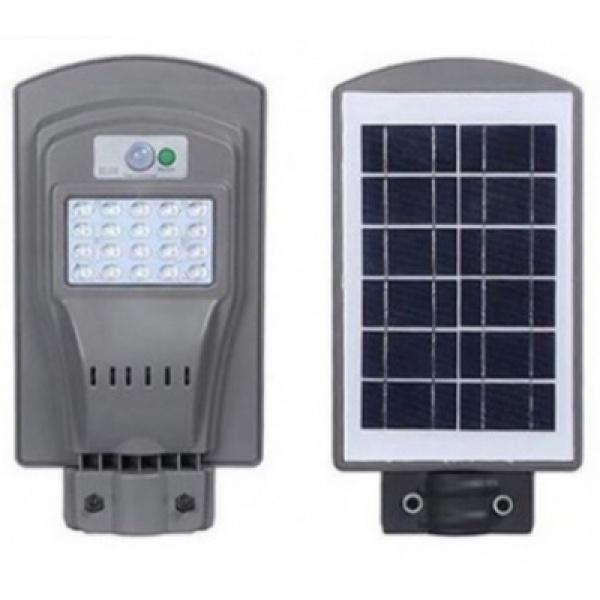 Lampa stradala pentru exterior cu incarcare solara si senzor de miscare 30 watti - cu panou solar inclus
