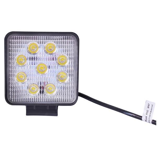 Lampa 9 LED 10-60V 27W, unghi de radiere 60