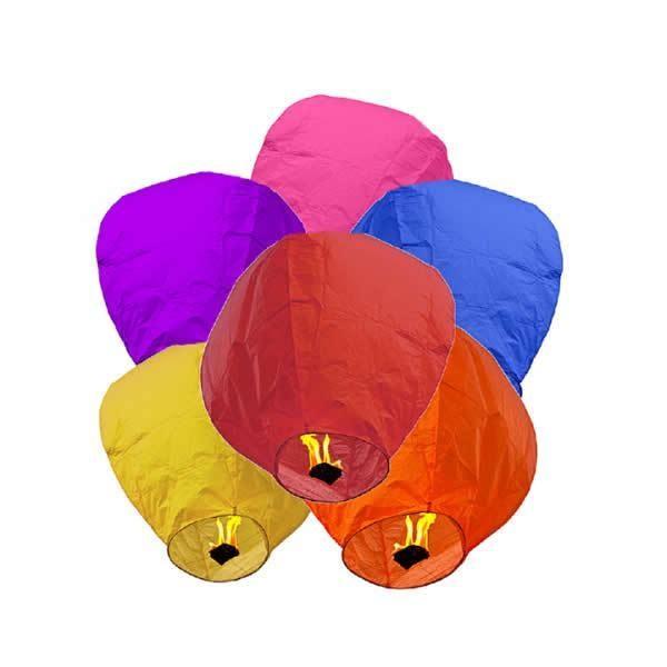 Set lampioane zburatoare multicolore- 10 bucati