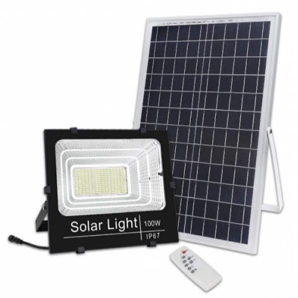 Proiector 100W , Panou Solar si telecomanda cu functii multiple