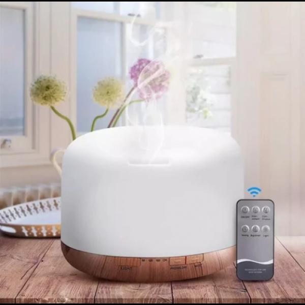 Difuzor aromaterapie Aroma Diffuser, 16 W, 300 ml, RGB, ultrasunete, telecomanda