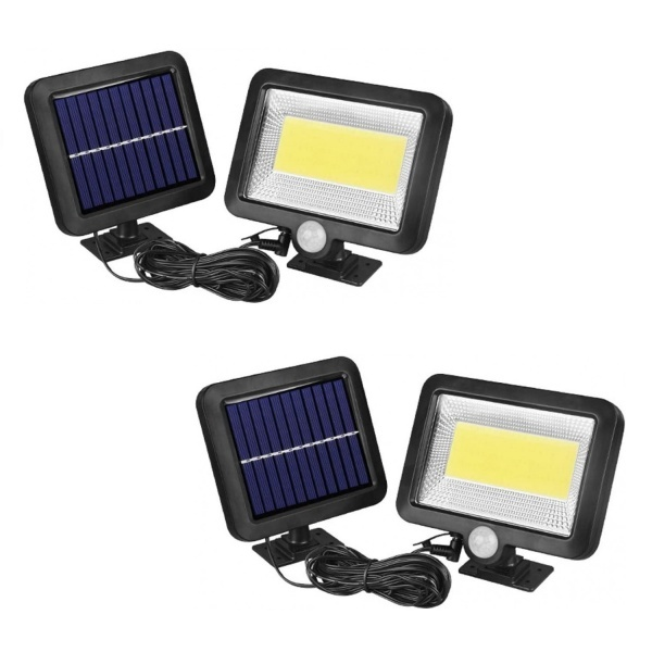 Set 2 x Lampa solara de perete cu senzor de miscare F100