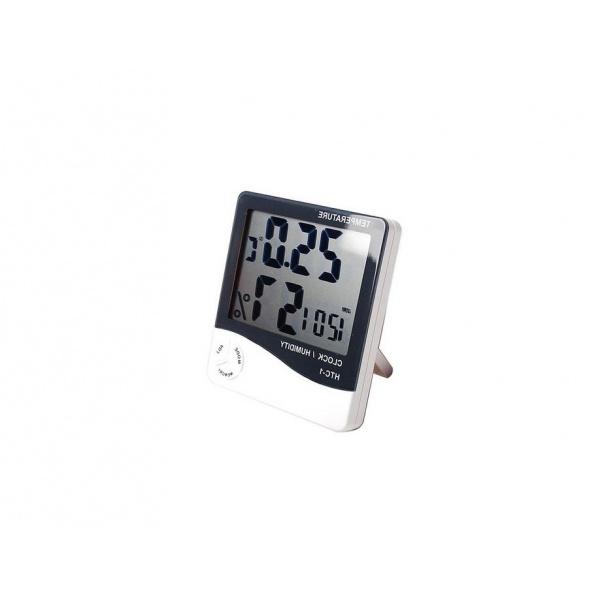 Termohigrometru digital 3 in 1 cu ceas, alarma, calendar - senzor de umiditate